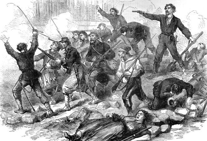 Combattants de la Commune, gravure de l'« Illustrated London News».