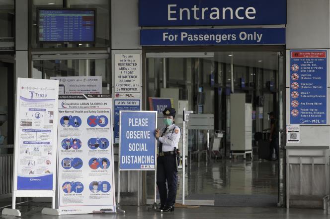 L'aéroport de Manille, le 17 mars.