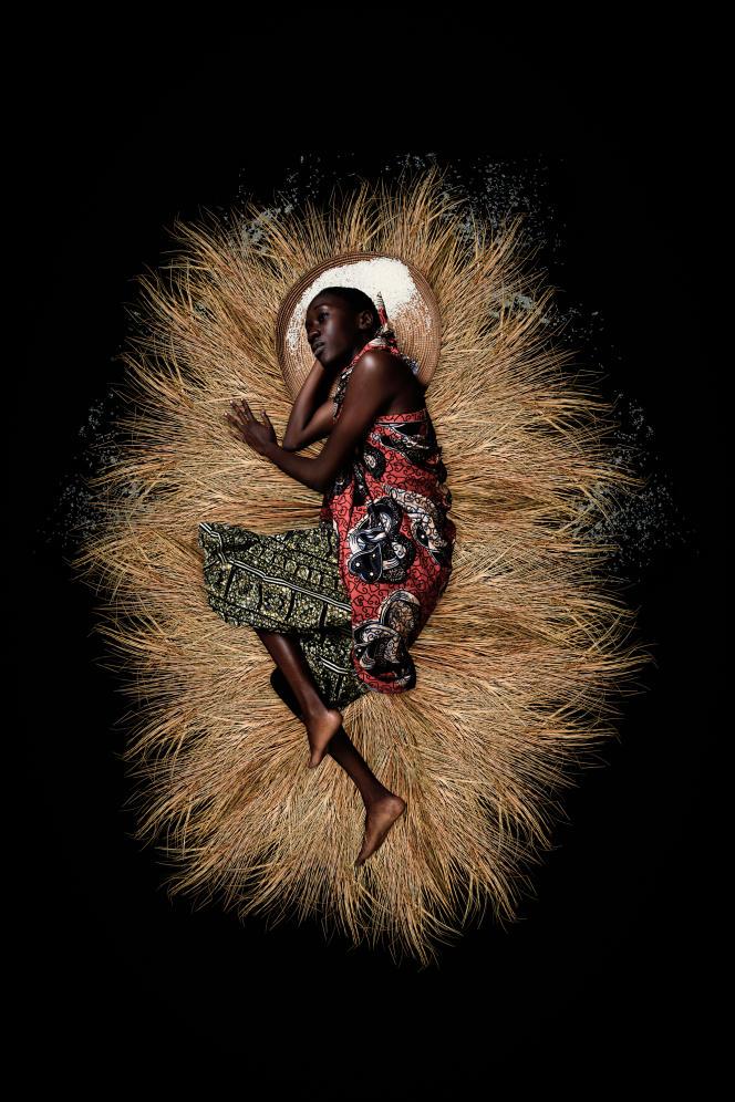 """Aline Sitoé Diatta, 1944"", ""Liberty"" series, by Omar Victor Diop, 2017."