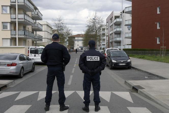 In Colomiers bei Toulouse im März 2018 nach einer Schießerei gegen Rahim Namazov, einen in Frankreich verbannten aserbaidschanischen Journalisten, und seine Frau.
