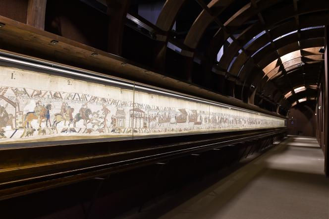 Bayeux tapestry (11th century), at the Bayeux Museum (Calvados).