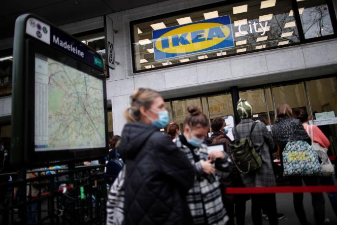 Le magasin IKEA à Paris en France, le 4 mars 2021.