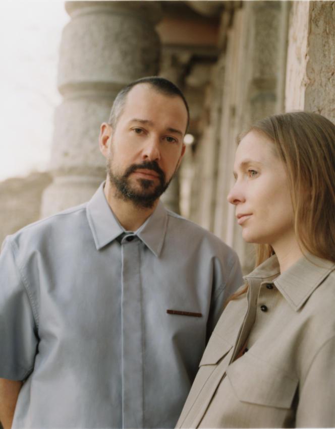 Luke et Lucie Meier, à Milan, le 8mars 2021.