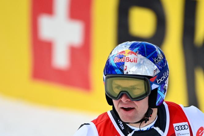 Alexis Pinturault, lors du slalom géant de Lenzerheide, le 20 mars.