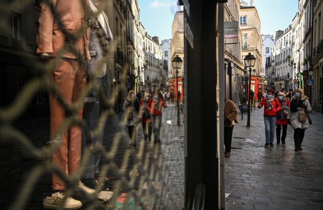Dans les rues de Paris, le 20mars.