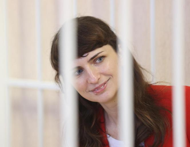 Katerina Borisevich, journaliste pour le site indépendant «Tut.by», au tribunal de Minsk (Biélorussie), le 19 février 2021.