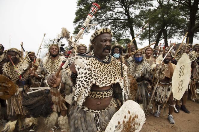 Lors des funérailles deGoodwill Zwelithini, à Nongoma, le 17mars 2021.