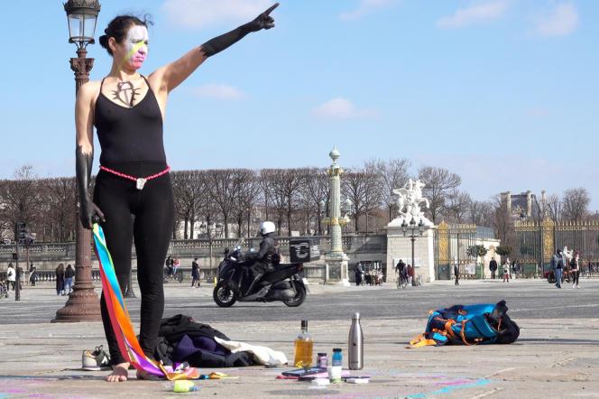Dalila Dalléas Bouzar, le 20 mars 2021, place de la Concorde, à Paris.