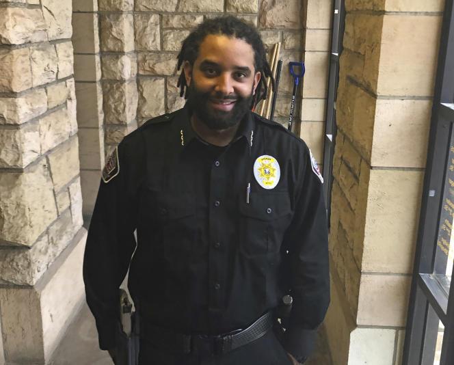 Aaron Appelhans a bien conscience qu'il n'est que l'un des quelque 650 Noirs qui vivent dans le comté d'Albany. Ici à Laramie (Wyoming), le 3 février 2021.