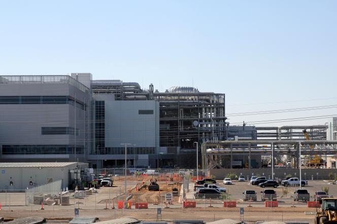 Un site de fabrication de microprocesseurs Intel, àChandler (Arizona), en octobre 2020.