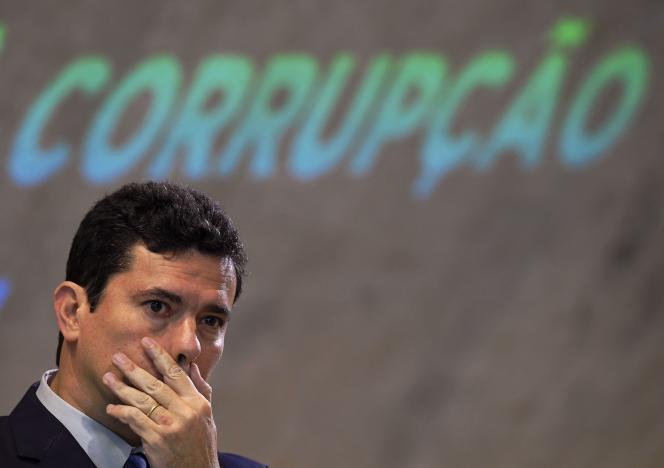 Le 23 novembre 2018, le futur ministre brésilien de la Justice, Sergio Moro, assiste à un forum national sur la lutte contre la corruption à Rio.