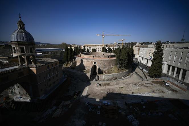 Le mausolée d'Auguste, le 3 mars à Rome.