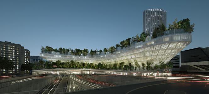 Le projet Mille arbres, porte Maillot, à Paris.