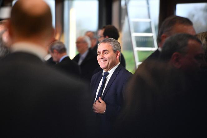 Xavier Bertrand, le 22 novembre 2019, àNesle (Somme).