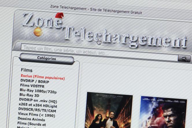 Zone Téléchargement, un site Internet de téléchargement illégal, en 2017.