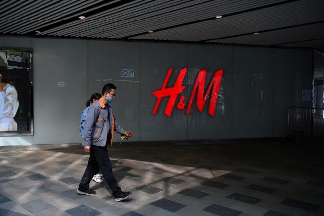 Boutique H&M à Pékin, le 25 mars 2021.
