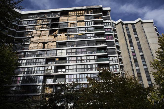 Appartements après un incendie dans un bâtiment de Grigny 2 (Essonne), en décembre 2018.