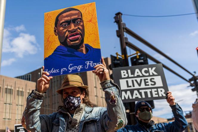 Manifestation en mémoire de George Floyd et d'autres victimes du racisme, à Minneapolis (Minnesota), le 28mars.