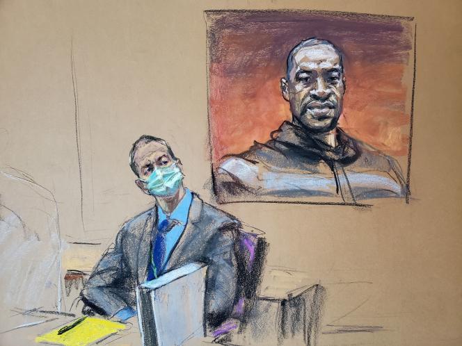 L'ancien officier de police de Minneapolis (Minnesota) Derek Chauvin au tribunal le 29mars.