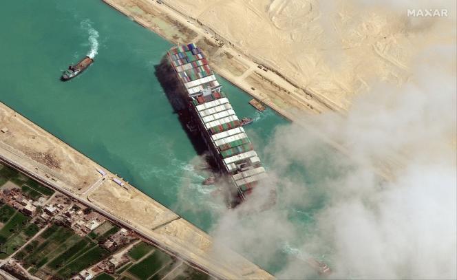 Le navire a bloqué le canal de Suez pendant six jours, à la fin de mars 2021.