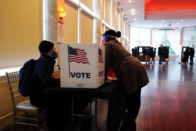 November 3, 2020 at a polling station in Atlanta, Georgia.