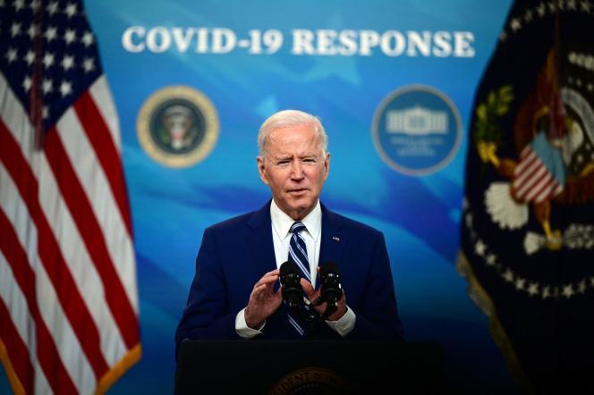 Joe Biden, lors d'une conférence de presse, à Washington, D.C., le 29 mars.