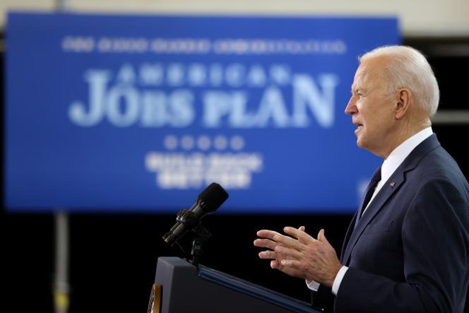 Le président Joe Biden dévoile son plan d'investissement à Pittsburgh, le 31 mars.