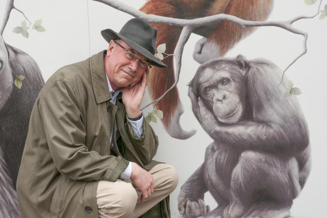 Andrew Whiten au centre de recherche du zoo d'Edimbourg, en mai 2012.