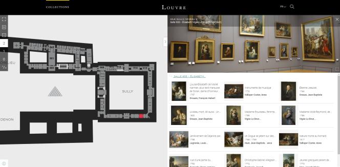 Capture écran du sitecollections.louvre.fr.
