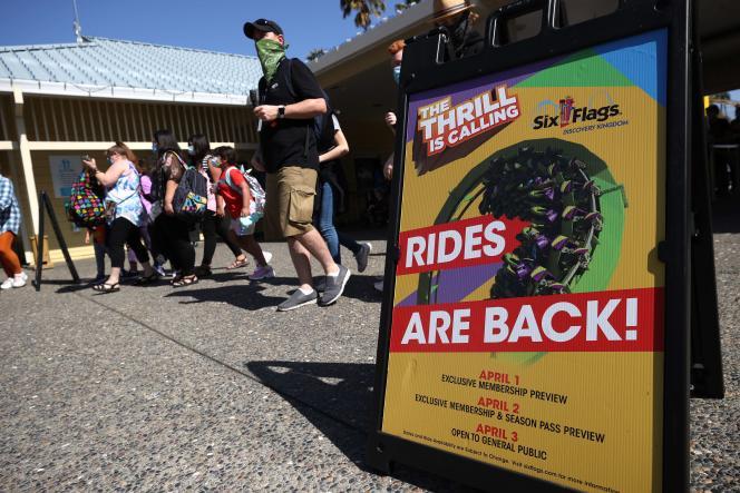 Au parc d'attractions Six Flags Discovery Kingdom, àVallejo (Californie), le 1er avril.