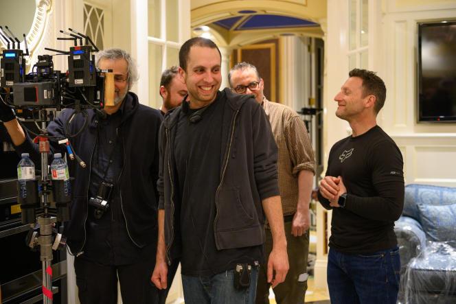 Brandon Cronenberg (au centre) sur le tournage de «Possessor», en 2020, à Toronto (Canada).