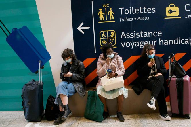 Gare Montparnasse à Paris, samedi 3 avril.