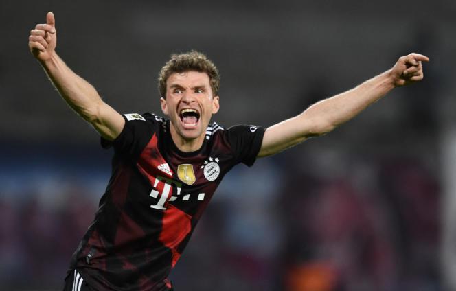 Le footballeur allemand Thomas Müller lors du match FC Leipzig – Bayern Munich, le 3avril 2021.
