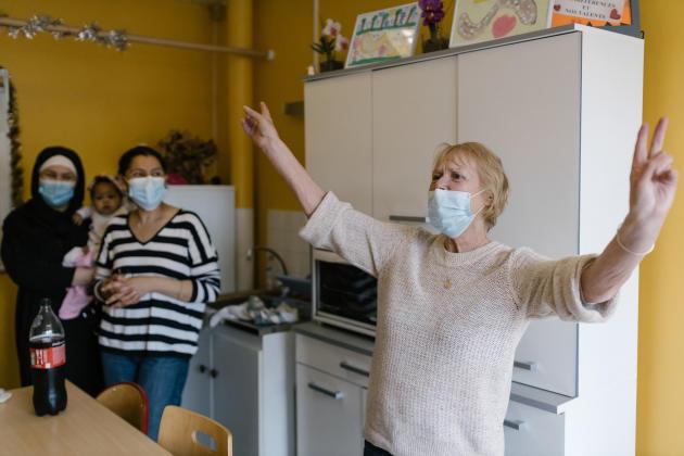 Liliane Bienvenu, à Bondy (Seine-Saint-Denis), le 1er avril 2021. A bientôt 80 ans, elle s'occupe de «l'amicale des locataires» de l'immeuble des Potagers.