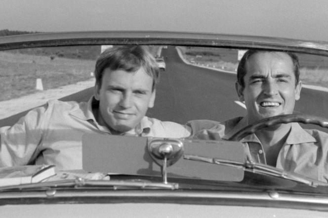 """""""Le Fanfaron"""", the th film by Dino Risi (1962), with Jean-Louis Trintignant and Vittorio Gassman."""