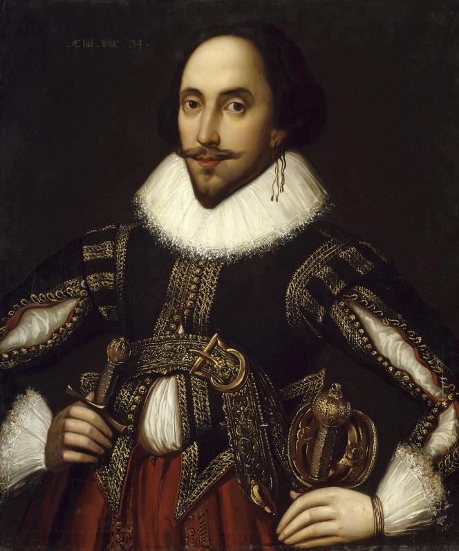 «Portrait du dramaturge britannique William Shakespeare (1564-1616)», de Louis Coblitz (1847). Musée du château de Versailles.