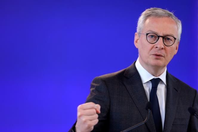 Le ministre de l'économie Bruno Le Maire, au ministère de l'économie et des finances de Bercy à Paris, le 15 février 2021.
