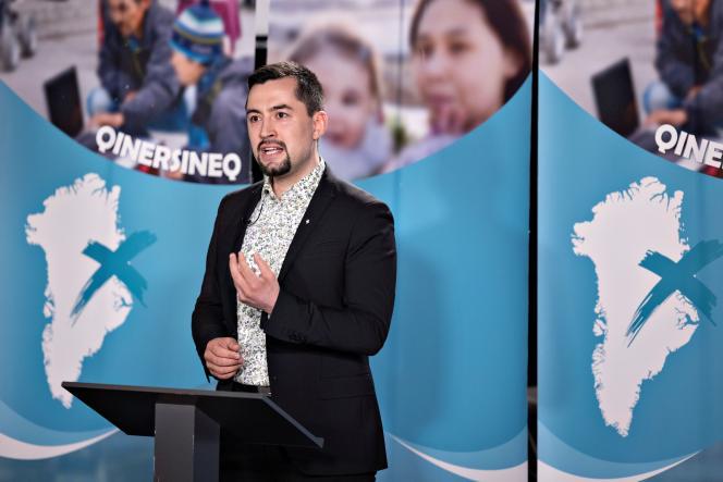 Mute Egede, le dirigeant du parti Inuit Ataqatigiit (IA), arrivé en tête du scrutin.