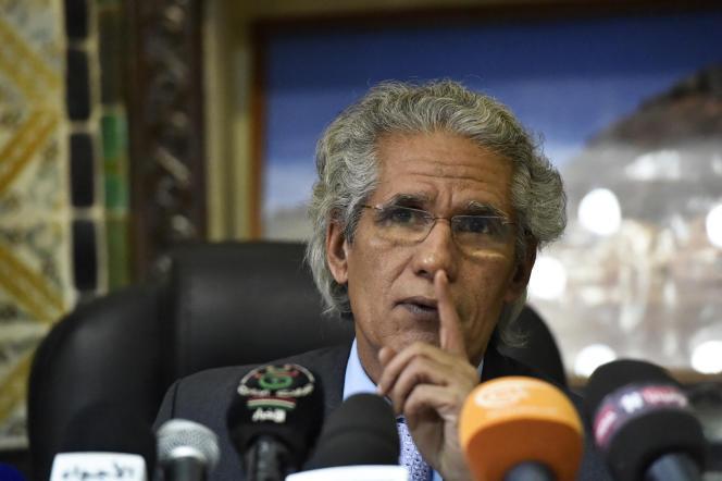 Mohamed Salem Ouled Salek, Ministro de Relaciones Exteriores de la República Árabe Saharaui Democrática, en Argel, en febrero de 2018.