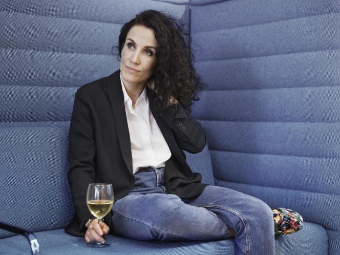 Corinne Rey alias Coco, dans les locaux de la maison d'édition Les Arènes, à Paris, le 16 mars.
