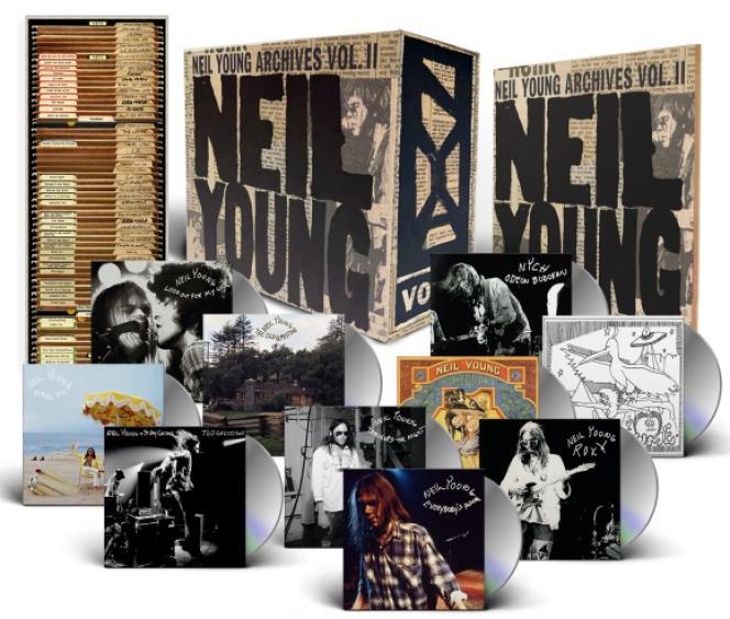 Visuel du coffret « Archives Volume II : 1972-1976 », de Neil Young.