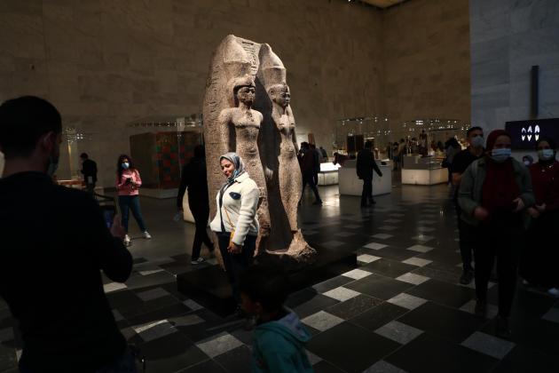 Le Musée national de la civilisation égyptienne souhaiteabriter une collection de 50000 objets, datant de la préhistoire à nos jours, au Caire, le 4 avril 2021.