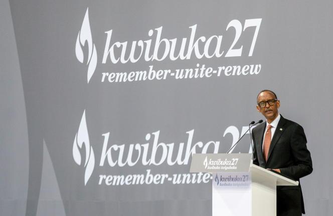 « L'important est de continuer à travailler ensemble à documenter la vérité », a déclaré le président Paul Kagame, à Kigali, le 7 avril.