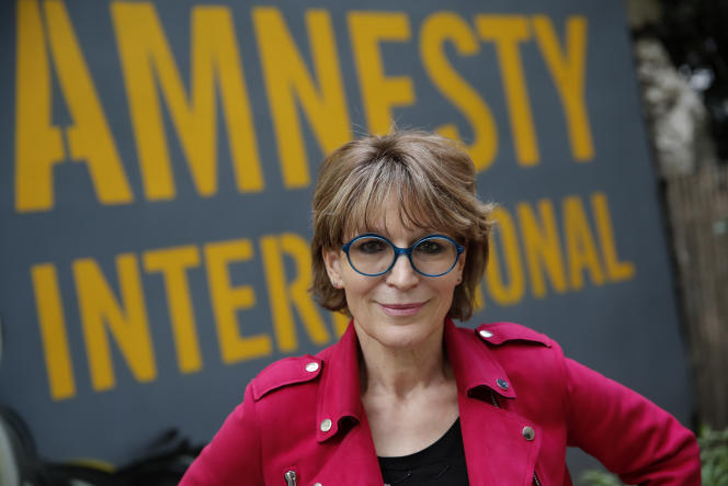 La secrétaire générale d'Amnesty International, Agnès Callamard, le 6 avril 2021 à Paris.
