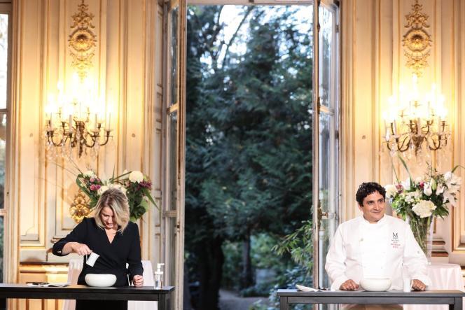 Barbara Pompili et le chef Mauro Colagreco, lors de l'émission «Top Chef» diffusée mercredi 7 avril 2021.