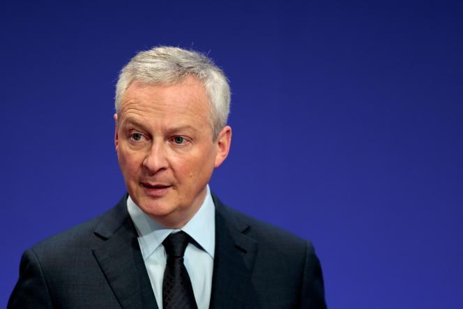 Le ministre de l'économie, Bruno Le Maire, à Bercy, à Paris, le 8 avril.
