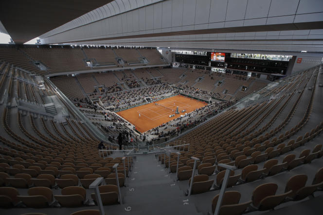 The organizers of the Roland-Garros tournament (here, October 11, 2020) will only be able to accommodate 5,000 people from the quarter-finals for the 2021 edition.