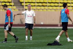 Didier Deschamps, en septembre 2005, au stade Louis-II de Monaco.