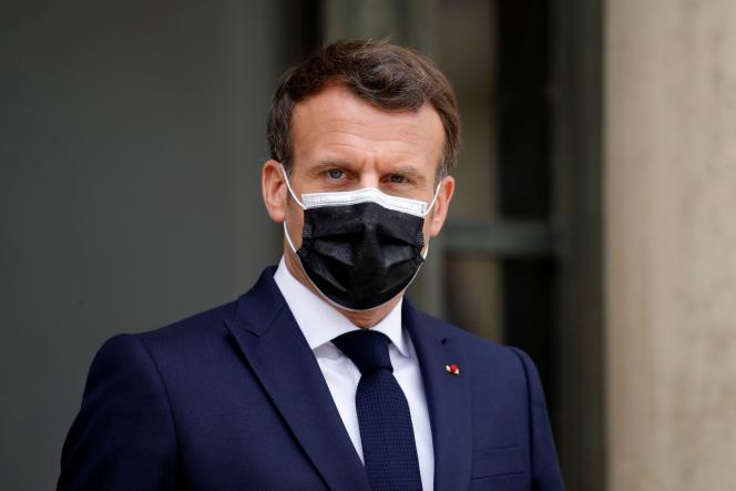 Emmanuel Macron, à l'Elysée, le 9 avril 2021.
