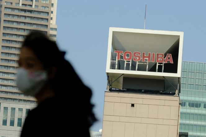 Siège de Toshiba, à Tokyo, le 7 avril 2021.